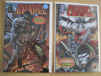CHAPEL #s 5 & 6 : COMPLETE 2 ISSUE SPAWN STORY. IMAGE.1995