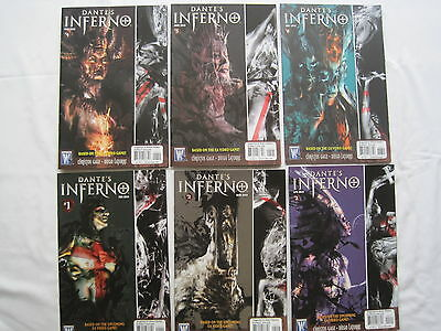 DANTE'S INFERNO : COMPLETE 6 ISSUE SERIES. BASED ON THE VIDEO GAME. By GAGE.2010