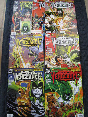 DAY of VENGEANCE -COMPLETE SET of 6 + SPECIAL by WILLINGHAM.INFINITE CRISIS.2005