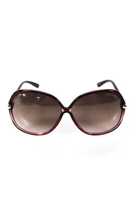 fe128ecb57 TOM FORD WOMENS Islay Oversized Round Sunglasses Pink Brown TF224 ...