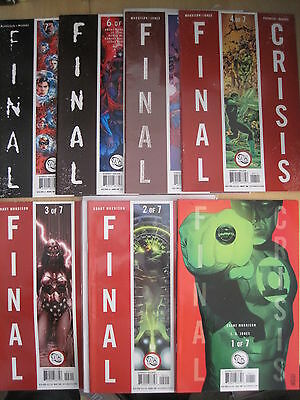 FINAL CRISIS : COMPLETE 7 ISSUE SERIES by GRANT MORRISON,J.G.JONES etc.DC.2008