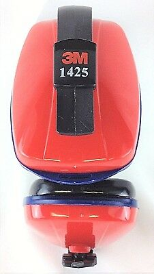 3M 1425 Low Profile Red & Blue Ear Muffs, New