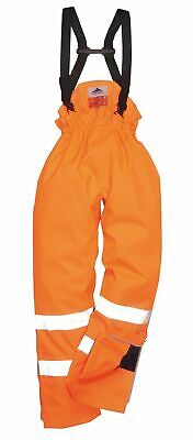 Portwest Flame Resist Antistatic HI VIZ Waterproof Trouser Pant Safety Work S780