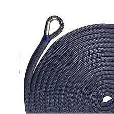 "US Ropes Nylon Double Braided Anchor Line 3/8"" x 100' Navy"