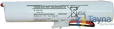 3DH4-0LA4 Yuasa NiCd Emergency Lighting Batterie 3.6V 4Ah