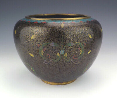 Antique Chinese Cloisonne - Flower & Foliate Decorated Vase - Lovely!