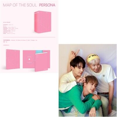 BTS: Map of the Soul Persona 76p photo book+CD+1 Photo card+20g Mini Book+Poster