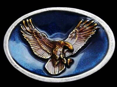 Ll17102 Really Nice **American Bald Eagle** Multi-Color Lacquer Belt Buckle