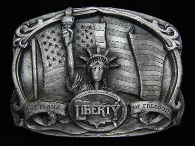 Qd07147 Vintage 1985 **Liberty The Flame Of Freedom** Commemorative Belt Buckle