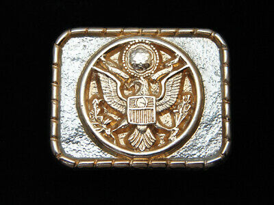 QB11140 VINTAGE 1970s **OFFICIAL SEAL OF THE UNITED STATES OF AMERICA** BUCKLE