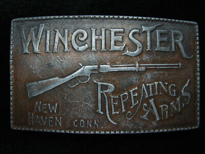 QC07122 VINTAGE 1970s **WINCHESTER REPEATING ARMS** GUN FIREARM BELT BUCKLE