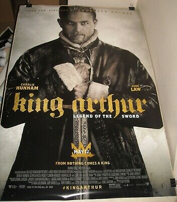ROLLED 2017 KING ARTHUR LEND of the SWORD ADVANCE 1 SHEET MOVIE POSTER 2 SIDED