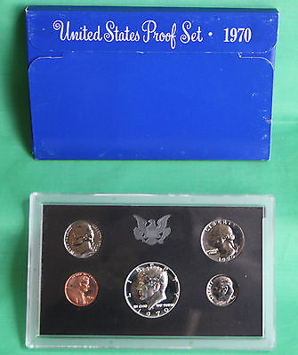 1970 United States Mint Annual 5 Coin Proof Set with Original Box