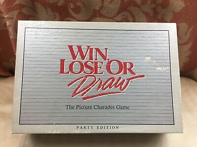 Win, Lose or Draw The Family Charades Game VTG 1988 Party Edition NEW
