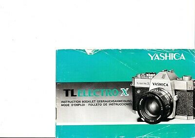 100% Genuine Original Yashica Camera Tl Electro X  Instruction Manual