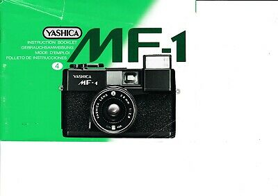 100% Genuine Original Yashica Camera Mf-1 Instruction Manual