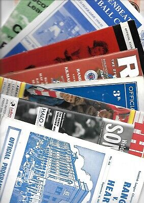 10 x Scottish League Programmes 1962 -  2019 Listed 85
