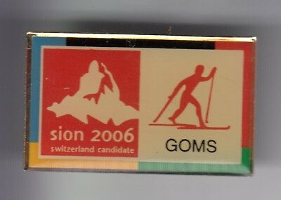 Rare Pins Pin's .. Sport Hiver Ski Skiing De Fond Goms Sion Suisse 2006 ~Ef