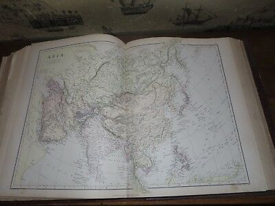 1882 Comprehensive Atlas & Geography Of The World By Blackie 67 Col Maps China *