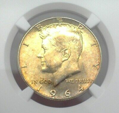 1964 Kennedy Silver 50 Cents  Ngc Ms65 Toned!