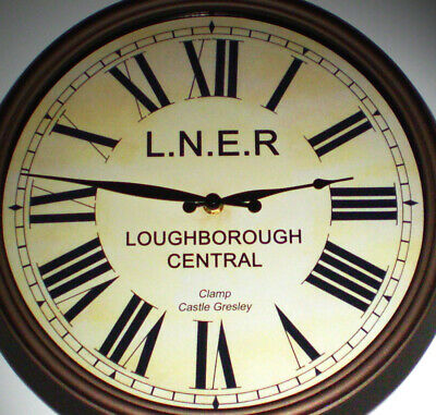 London North Eastern Railway LNER Style Clock, Loughborough Central Station.