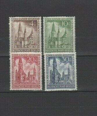 4 Good Cat Value unused West Berlin Church Reconstruction 1953 issues