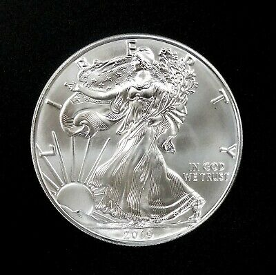 2019 American Silver Eagle! One Troy Ounce of 0.999 Fine Silver! NO RESERVE!