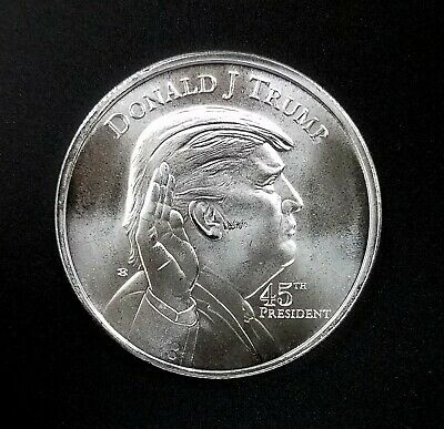 Donald Trump 45th President, One Troy Ounce 0.999 Fine Silver Round! NO RESERVE!