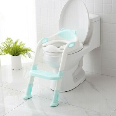 Baby Kid Potty Trainer Toddler Toilet Chair & Ladder Step Up Training Stool Seat