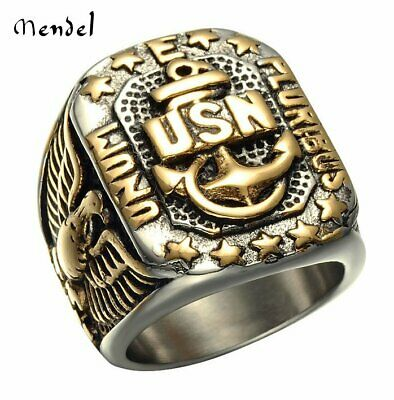 634eb73460 NEW MEN'S US Military Air Force Army Navy Marine Corps Stainless ...