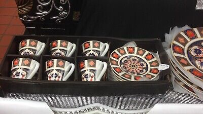 Romany Gypsy Coffee Tea  Set 6 Cups & Saucers Tableware Dining Gift Set Crown