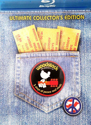 Woodstock The Director's Cut BLU RAY 2 DISC SET Ultimate Collector's Edition