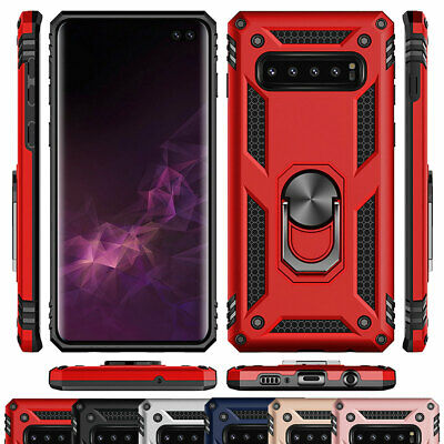 Hybrid Rugged Shockproof 360 Ring Stand Case For Samsung Galaxy S10e S10 Plus
