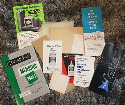 A Practical Manual On Mending Books -Demcobind Library Supplies -Vintage