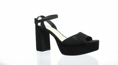 3cf4a595ea0 Chinese Laundry Womens Theresa Black Suede Ankle Strap Heels Size 7.5  (205177)