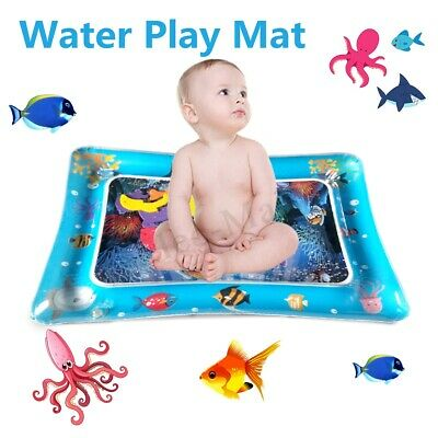 Inflatable Baby Water Play Mat Infants Toddlers Children Fun Tummy Time Activity