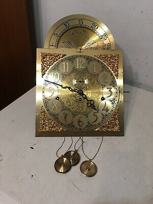 Vintage Howard Miller Triple Chime Grandfather Clock Movement Dial Hands Parts