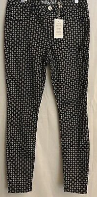 ab2f1ec5a707d NWT-SO Kohl's Juniors 11 HighRise Ankle Jegging Black/White Skinny Stretch  Jean