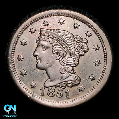 1851 Braided Hair Large Cent  HIGH GRADE!  -- TYPE COIN    Z49