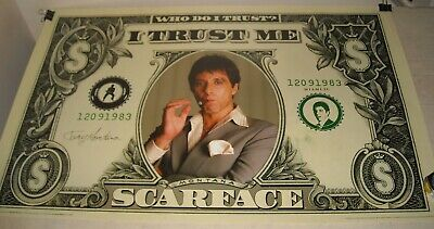 ROLLED Scorpio Posters # 1019 SCARFACE AL PACINO I TRUST ME PINUP POSTER 22 x 34