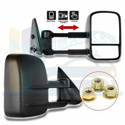 Left+Right For 99-07 Silverado Sierra Extend Telescoping Side Mirrors Manual