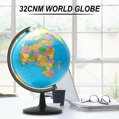 14cm Solar Powered World Globe Auto Spinning Geography Atlas Eucational Toys