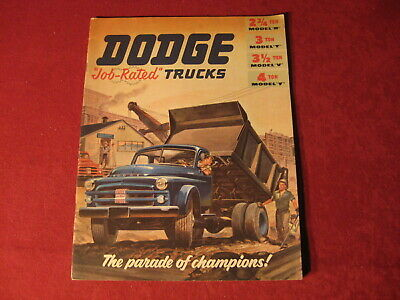 1953? Dodge truck Showroom Sales Brochure Catalog Old Original Catalog Rig Semi