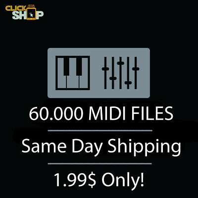 60.000 MIDI FILES, Pop, Trap, Techno, EDM, Trance, Ethnic, Hip-Hop... - Download