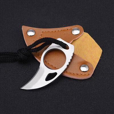 Small Portable Knife Outdoor Tool Survival Self Defense Handmade Claw Knife
