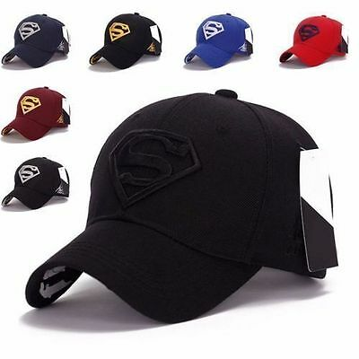 Hot Men's Fashion Superman Hip Hop Adjustable Cap Flex Fit Snapback Baseball Hat