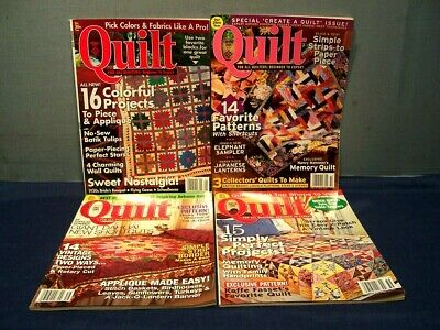 LOT of 4 QUILT MAGAZINES COMPLETE YEAR 2005 SPRING SUMMER FALL WINTER  PATTERNS