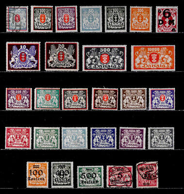Danzig, Germany: Classic Era Stamp Collection Mostly Unused