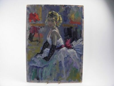 British Impressionist oil painting by Roy Pettitt portrait of a young lady #29