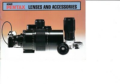 Genuine Pentax Lenses And Accessories Manual Kx K2 Mx Me